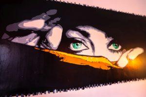 b&b l'aquila Camaga camera doppia art murales